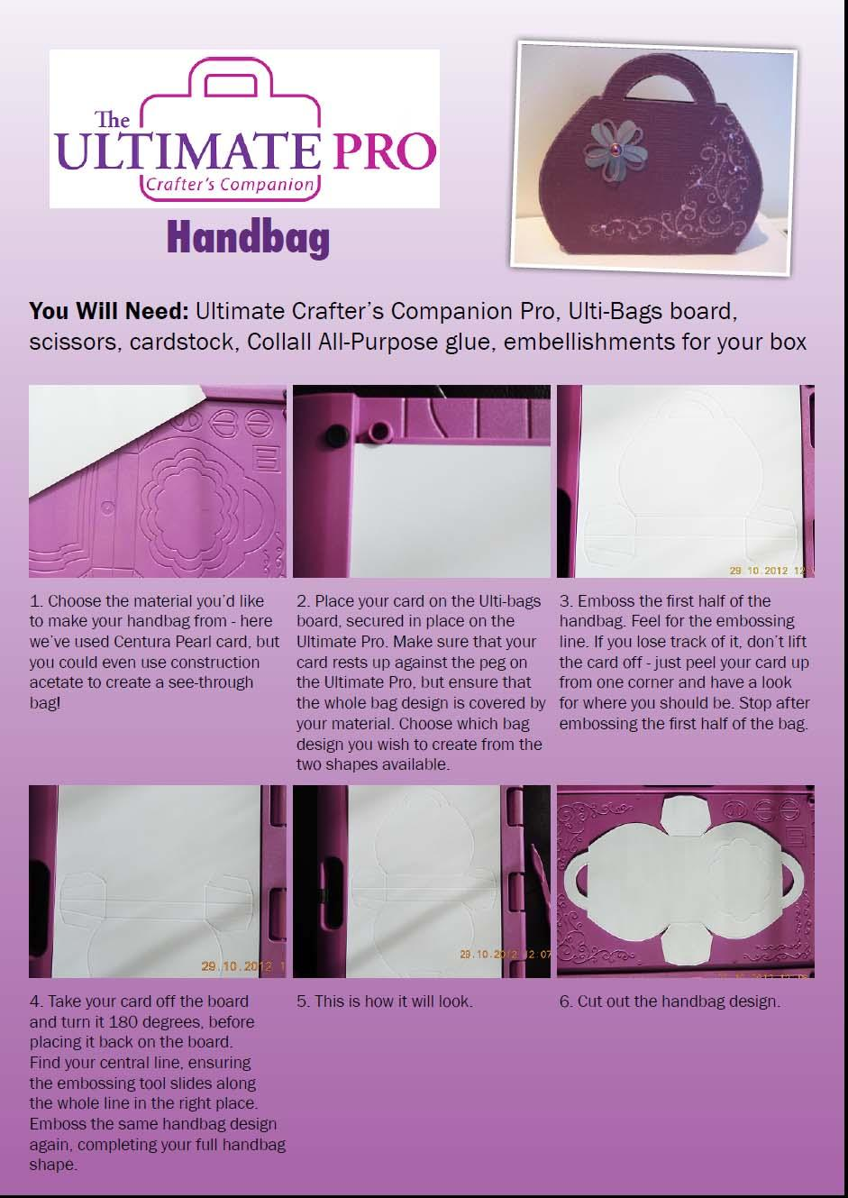 Ultimate Pro Handbag making instructions page 1